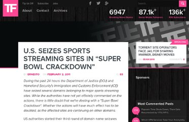 http://torrentfreak.com/u-s-seizes-sports-streaming-sites-in-super-bowl-crackdown-110202/