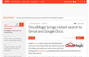 http://thenextweb.com/apps/2011/02/03/cloudmagic-brings-lightning-fast-search-to-gmail-and-google-docs/