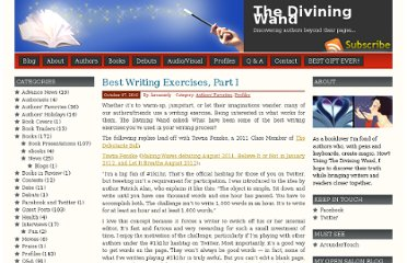 http://thediviningwand.com/2010/10/best-writing-exercises-part-i-2/