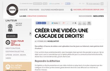 http://owni.fr/2011/02/03/creer-une-video-une-cascade-de-droits/