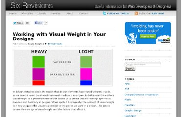 http://sixrevisions.com/graphics-design/visual-weight-designs/