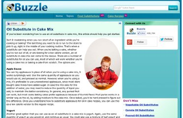 http://www.buzzle.com/articles/oil-substitute-in-cake-mix.html