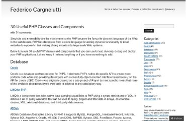 http://blog.fedecarg.com/2008/05/29/30-useful-php-classes-and-components/