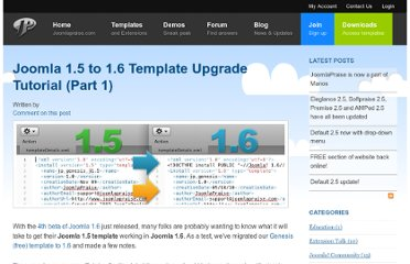 http://www.joomlapraise.com/blog/item/520-joomla-15-to-16-template-upgrade-tutorial-part-2