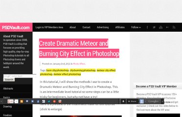 http://www.psdvault.com/photo-effect/create-dramatic-meteor-and-burning-city-effect-in-photoshop/