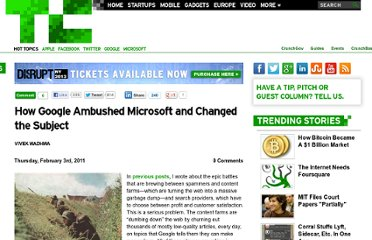 http://techcrunch.com/2011/02/03/how-google-ambushed-microsoft-and-changed-the-subject/