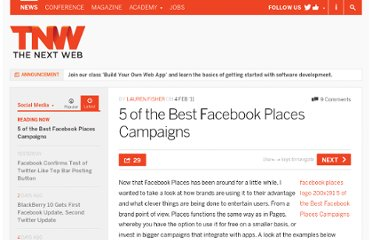 http://thenextweb.com/socialmedia/2011/02/04/5-of-the-best-facebook-places-campaigns/