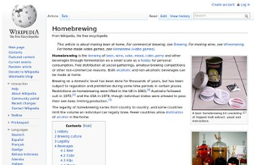 http://en.wikipedia.org/wiki/Homebrewing
