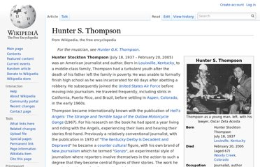 http://en.wikipedia.org/wiki/Hunter_S._Thompson