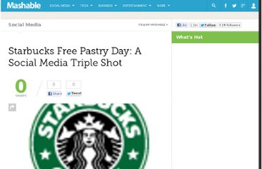 http://mashable.com/2009/07/21/starbucks-free-pastry-day/