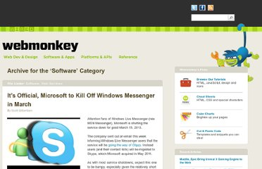 http://www.webmonkey.com/category/software/