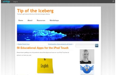 http://kerileebeasley.com/2009/11/02/50-educational-apps-for-the-ipod-touch/