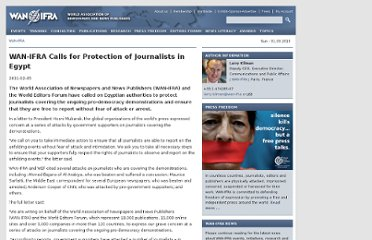 http://www.wan-ifra.org/press-releases/2011/02/05/wan-ifra-calls-for-protection-of-journalists-in-egypt