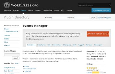 http://wordpress.org/extend/plugins/events-manager/