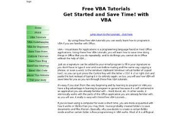 http://www.your-save-time-and-improve-quality-technologies-online-resource.com/free-vba-tutorials.html