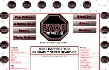 http://stoppopculture.com/2009/09/best-rappers-you-probably-never-heard-of/