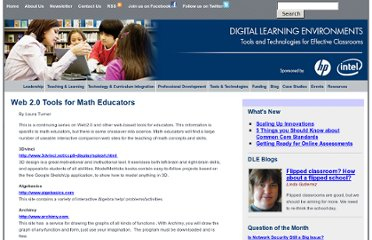 http://www.guide2digitallearning.com/tools_technologies/web_2_0_tools_math_educators