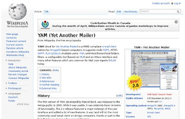 http://en.wikipedia.org/wiki/YAM_(Yet_Another_Mailer)
