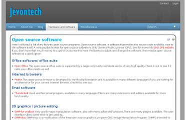 http://www.jevontech.com/open-source-software/open-source-software.html