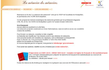 http://www.crdp-montpellier.fr/ressources/memoires/consultation/index.htm