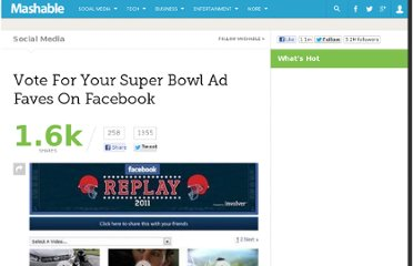 http://mashable.com/2011/02/06/vote-for-your-super-bowl-ad-faves-on-facebook/