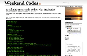 http://stockrt.github.com/p/emulating-a-browser-in-python-with-mechanize/