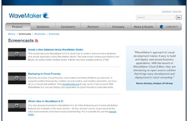 http://www.wavemaker.com/product/screencasts.html