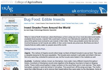 http://www.ca.uky.edu/entomology/dept/bugfood2.asp
