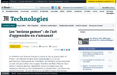 http://www.lemonde.fr/technologies/article/2007/05/10/les-serious-games-de-l-art-d-apprendre-en-s-amusant_893749_651865.html