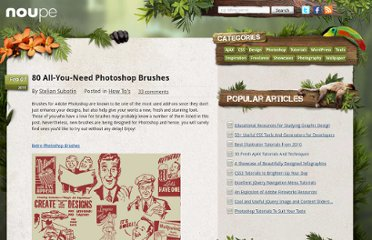 http://www.noupe.com/how-tos/80-all-you-need-photoshop-brushes.html