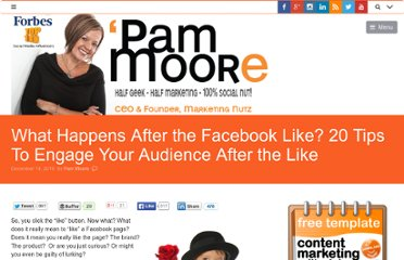 http://www.pammarketingnut.com/2010/12/what-happens-after-the-facebook-like-20-tips-to-engage-your-audience-after-the-like/