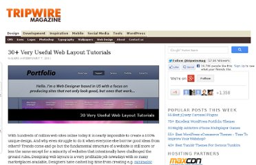 http://www.tripwiremagazine.com/2011/02/30-very-useful-web-layout-tutorials.html
