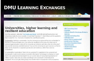 http://www.learnex.dmu.ac.uk/2011/02/07/universities-higher-learning-and-resilient-education/