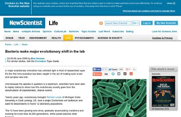 http://www.newscientist.com/article/dn14094-bacteria-make-major-evolutionary-shift-in-the-lab.html