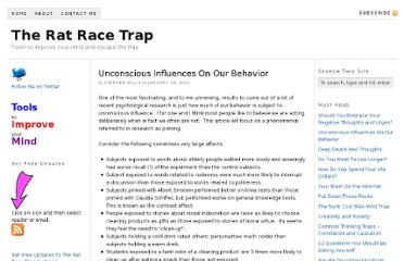 http://www.ratracetrap.com/the-rat-race-trap/unconscious-influences-on-our-behavior.html