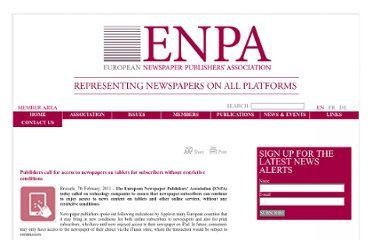 http://www.enpa.be/en/news/publishers-call-for-access-to-newspapers-on-tablets-for-subscribers-without-restrictive-conditions_56.aspx