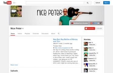 http://www.youtube.com/user/nicepeter