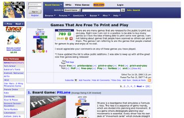 http://www.boardgamegeek.com/geeklist/1567/games-that-are-free-to-print-and-play