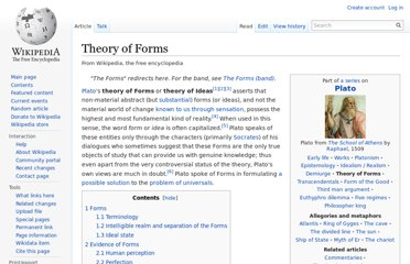 http://en.wikipedia.org/wiki/Theory_of_Forms