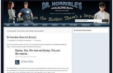 http://doctorhorrible.net/dr-horrible-wins-an-emmy/1040/