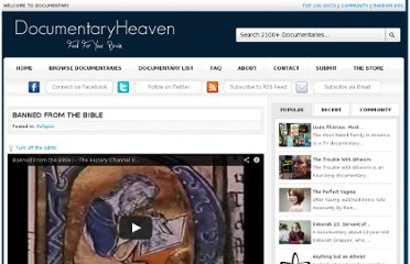 http://documentaryheaven.com/banned-from-the-bible/