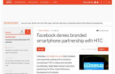 http://thenextweb.com/mobile/2011/01/27/facebook-denies-branded-smartphone-partnership-with-htc/