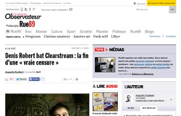 http://www.rue89.com/2011/02/08/denis-robert-bat-clearstream-la-fin-dune-vraie-censure-189458