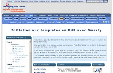 http://eric-pommereau.developpez.com/tutoriels/initiation-smarty/