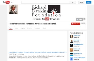 http://www.youtube.com/user/richarddawkinsdotnet