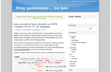 http://www.g33k-zone.org/post/2009/06/05/json_encode-et-json_decode-en-PHP4