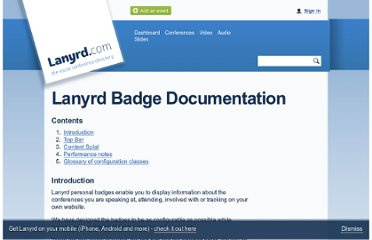 http://lanyrd.com/services/badges/docs/