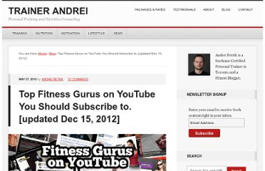 http://www.getfitwithandrei.com/top-fitness-gurus-on-youtube-you-should-subscribe-to/