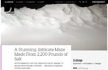 http://www.fastcodesign.com/1663153/a-stunning-intricate-maze-made-from-2200-pounds-of-salt
