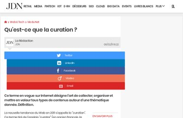 http://www.journaldunet.com/ebusiness/le-net/curation.shtml